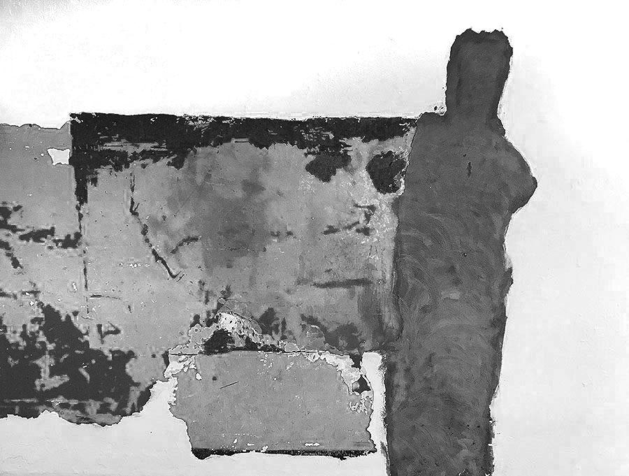 abstract man wall