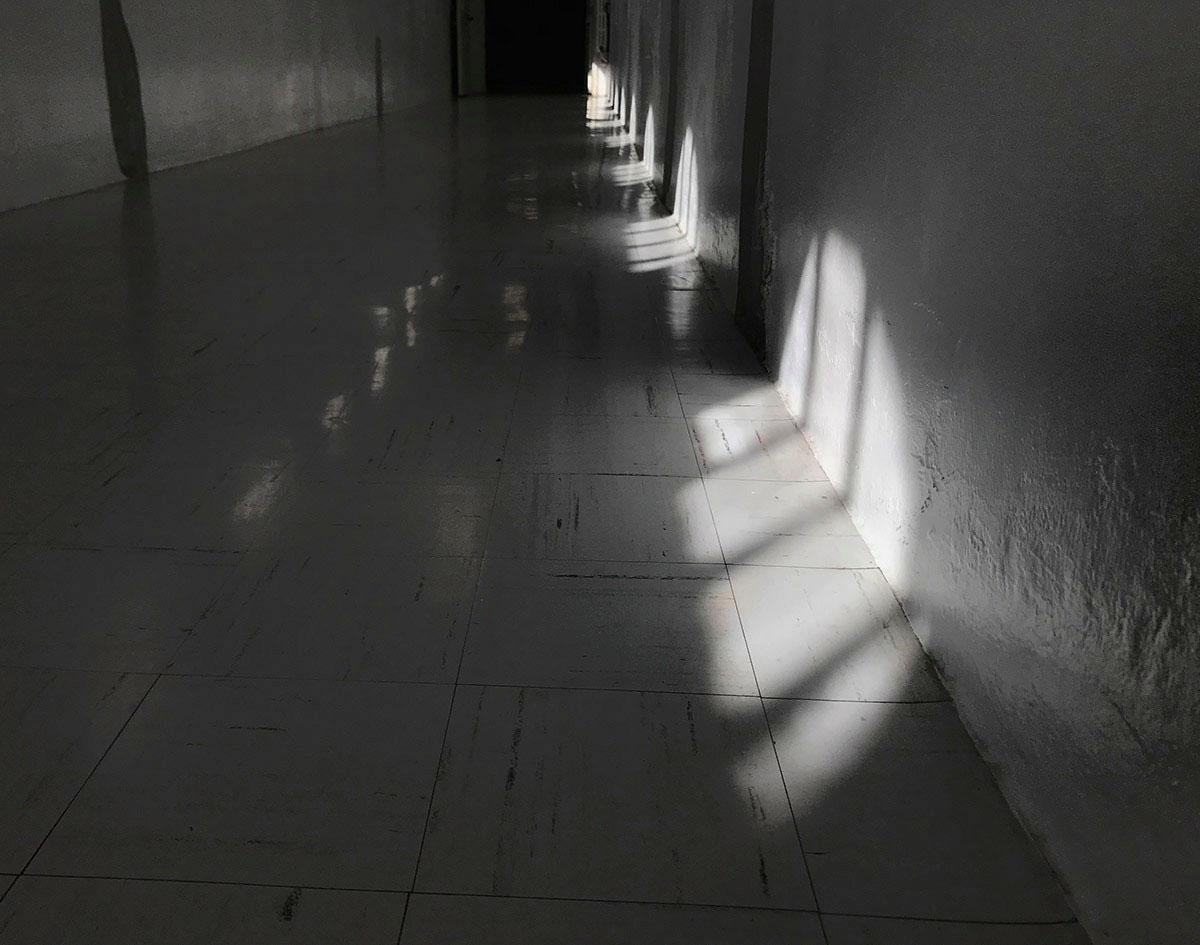 dim hallway