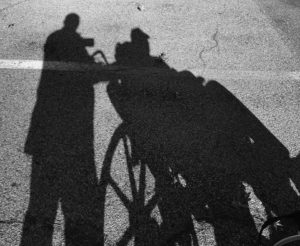 man and wheelchair man