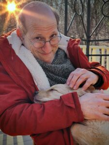 Jon and Puppy by Frank Siteman